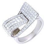Anillo - oro blanco con diamantes - 3000132