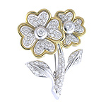 Broche de oro blanco y amarillo con Diamantes