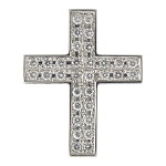 Cruz - oro blanco con diamantes - 3000357