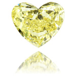 Diamante de color amarillo Fancy talla Coraz�n 1,14 qt