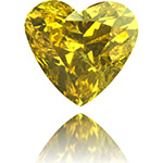 Diamante de color amarillo Fancy profundo talla Coraz�n 2,15 qt
